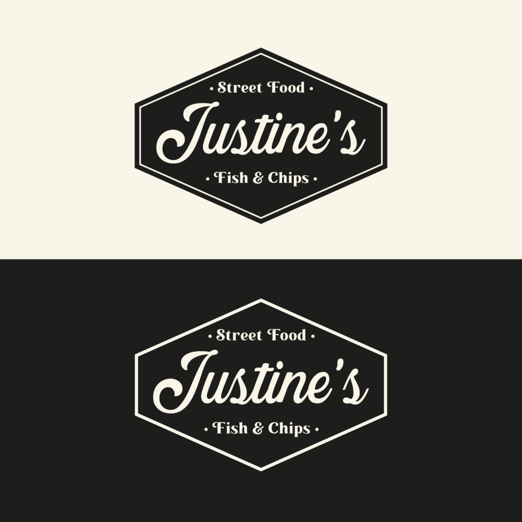 Logo Justine's fish and chips