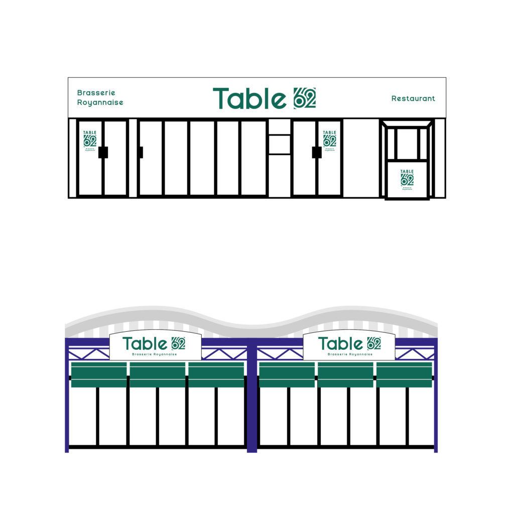 enseigne Logo table 62 royan