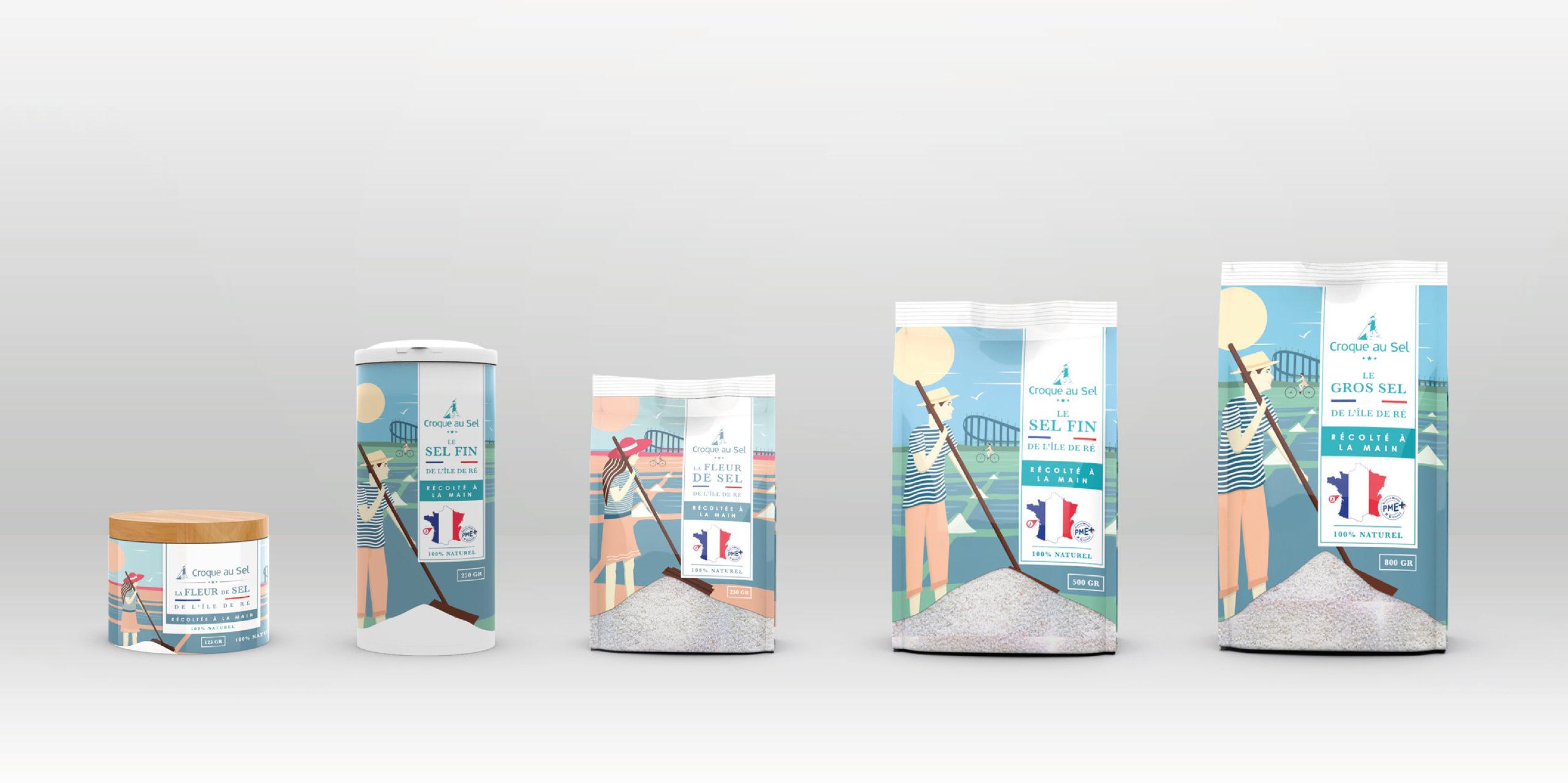 Gamme packaging Croque au sel